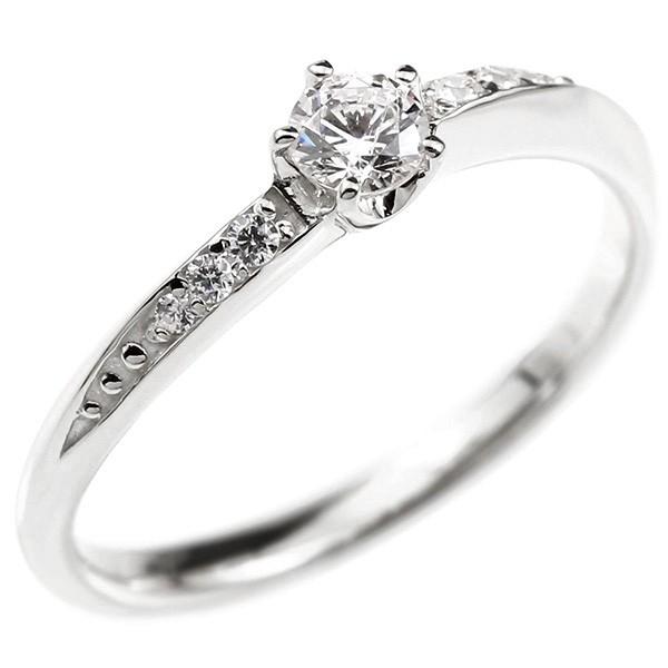 婚約指輪 リング ダイヤモンド ホワイトゴールドk10 エンゲージリング ダイヤ 一粒 大粒 指輪 ピンキーリング 宝石 レディース