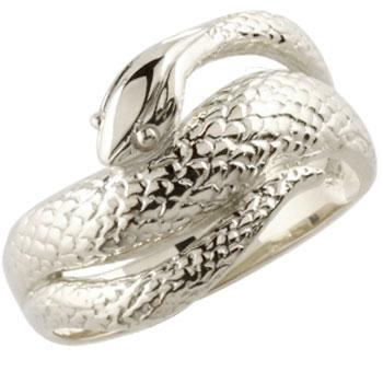 蛇 リング 指輪 スネーク ヘビ ピンキーリング シルバー 地金リング シンプル レディース 宝石なし