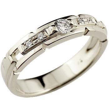 ダイヤモンドリング ホワイトゴールドk18