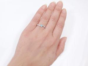 【送料無料】指輪,PT900,ブルートパーズ,ピンキーリング