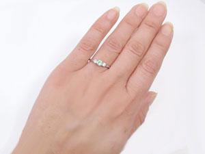 【送料無料】指輪,PT900,ペリドット,ピンキーリング