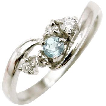 ホワイトゴールドk10リング:ダイヤモンドリング:指輪:天然石