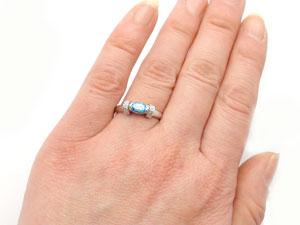 サンタマリアアクアマリン指輪リングダイヤモンド