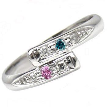 【送料無料】ピンキーリングプラチナ900ピンクサファイアダイヤモンド0.06ct指輪 小指用にも【工房直販】