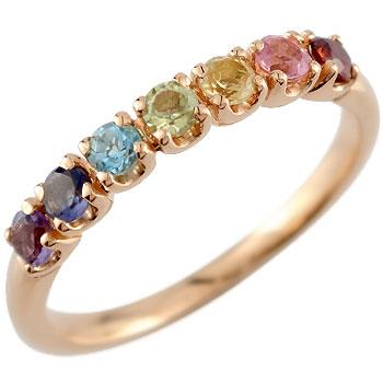 アミュレットリング 指輪 ピンキーリング ピンクゴールドk18