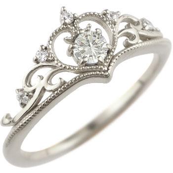 ティアラ プラチナ リング 指輪 ダイヤモンド タンザナイト ミル打ち 12月誕生石