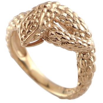 スネークリング 蛇 指輪 ピンキーリング ピンクゴールドk18