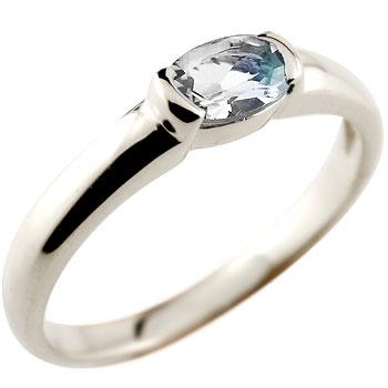 ブルームーンストーン リング 指輪 ピンキーリング レディース ホワイトゴールドk18 6月誕生石