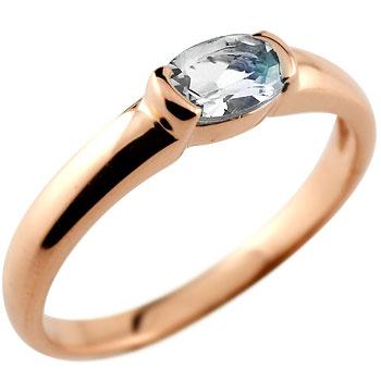 ブルームーンストーン リング 指輪 ピンキーリング レディース ピンクゴールドk18 6月誕生石