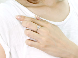 【送料無料】アメジストフラワーリングイエローゴールドK18指輪【工房直販】