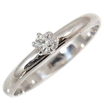 【送料無料】ピンキーリング:ダイヤモンド:リング:ホワイトゴールドK18:一粒ダイヤ0.10ct:指輪【工房直販】小指用にも