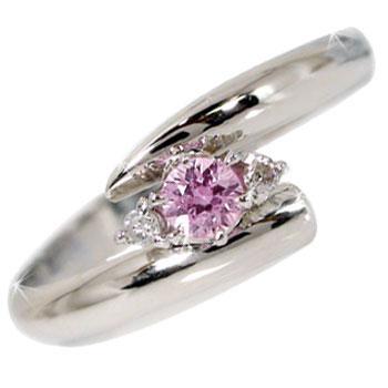 【工房直販】ピンキーリング:ダイヤモンド:ピンクサファイア:ホワイトゴールドk10リング:指輪