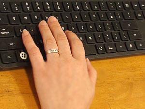 指輪k18wgピンキーリング