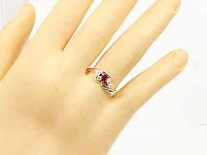 【送料無料】ルビー,天然ダイヤモンド,指輪 小指用にも【工房直販】