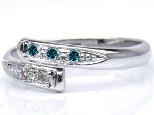 【送料無料】ピンキーリングホワイトゴールドK18ダイヤモンド0.08ct指輪 小指用にも【工房直販】