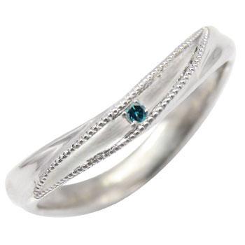 プラチナリング:ピンキーリング:ダイヤモンド0.01ct:指輪