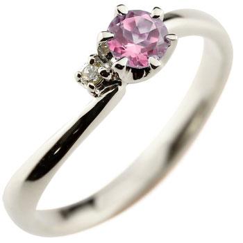 ピンクサファイア シルバーリング 指輪 ピンキーリング 9月誕生石