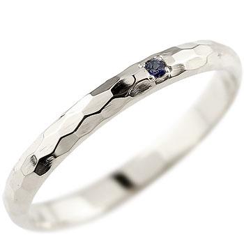 サファイア  ピンキーリング プラチナリング 指輪 一粒 9月誕生石