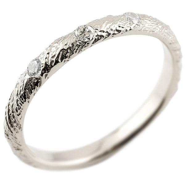 プラチナリング ピンキーリング pt900 ダイヤモンド アンティーク ストレート 4月誕生石 指輪 ダイヤモンドリング