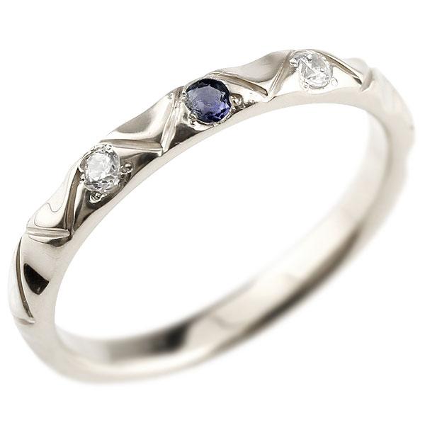 シルバーリング ピンキーリング sv925 ダイヤモンド アイオライト アンティーク ストレート 指輪 ダイヤモンドリング