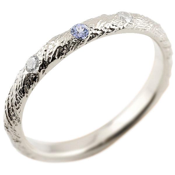 ゴールドリング ピンキーリング k18 ダイヤモンド タンザナイト アンティーク ストレート 12月誕生石 指輪 ダイヤモンドリング