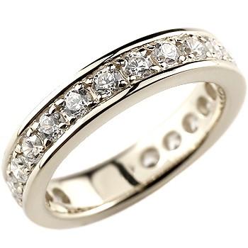 ハーフエタニティ ダイヤモンド リング 婚約指輪 エンゲージリング ホワイトゴールドk18
