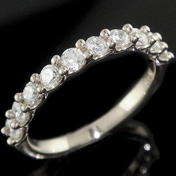 ダイヤモンド プラチナ リング ハーフエタニティ 婚約指輪 エンゲージリング