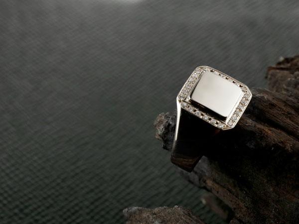 印台 リング 指輪 キュービックジルコニア シルバー