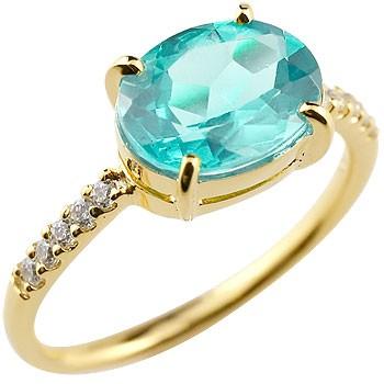 ブルートパーズ リング ダイヤモンド 指輪 ピンキーリング イエローゴールドk18 11月誕生石