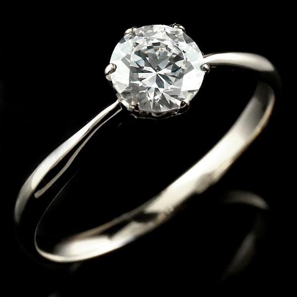 エンゲージリング プラチナ ダイヤモンド 大粒 一粒 指輪 婚約指輪 リング ストレート