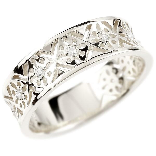 婚約指輪 リング ホワイトゴールドk10 ダイヤモンド ピンキーリング ダイヤ 指輪 透かし エンゲージリング 宝石 レディース