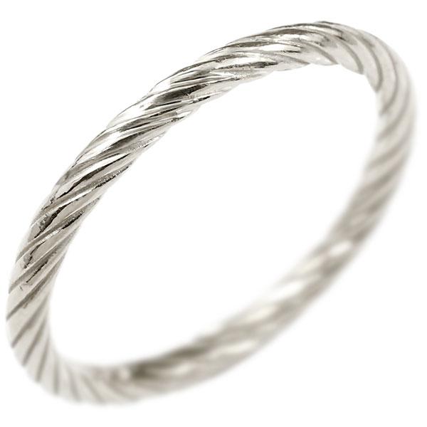 プラチナリング 指輪 エンドレスロープ 指輪 pt900 ストレート 地金 ピンキーリング 重ね付け リング レディース