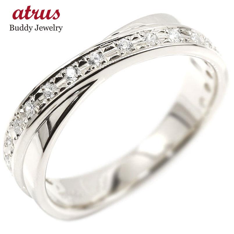 リング ホワイトゴールドk10 ダイヤモンド 婚約指輪 ピンキーリング ダイヤ エンゲージリング