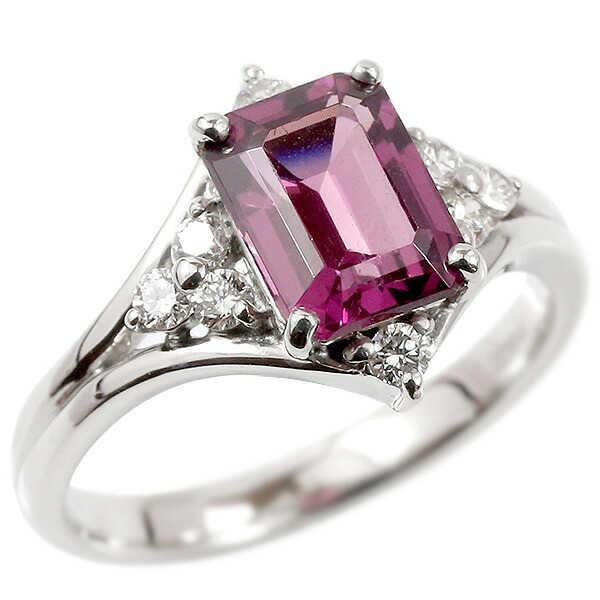 婚約指輪 プラチナリング グレープガーネット エンゲージリング ダイヤモンド 指輪 ピンキーリング pt900 宝石 レディース