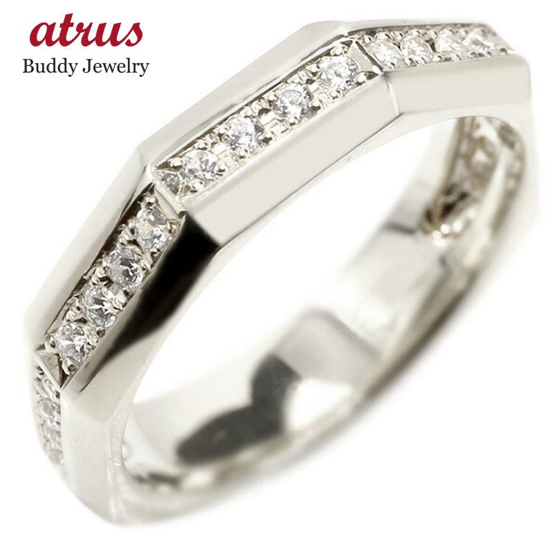 婚約指輪 リング ホワイトゴールドk10 ダイヤモンド エンゲージリング ダイヤ 指輪 ピンキーリング 10金 宝石 レディース