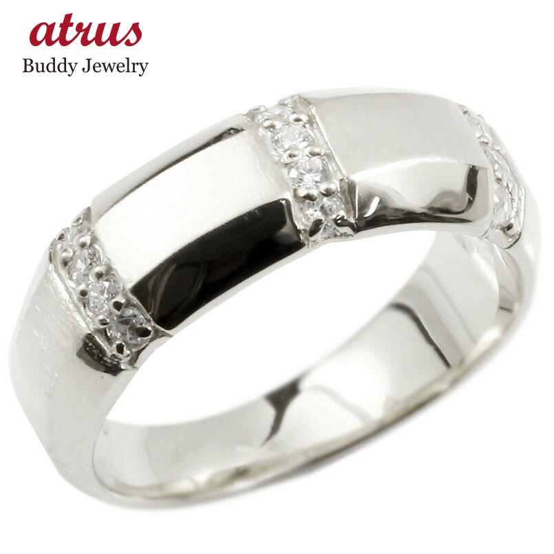 婚約指輪 プラチナリング キュービックジルコニア エンゲージリング 指輪 幅広 サテン仕上げ ピンキーリング pt900 宝石 レディース
