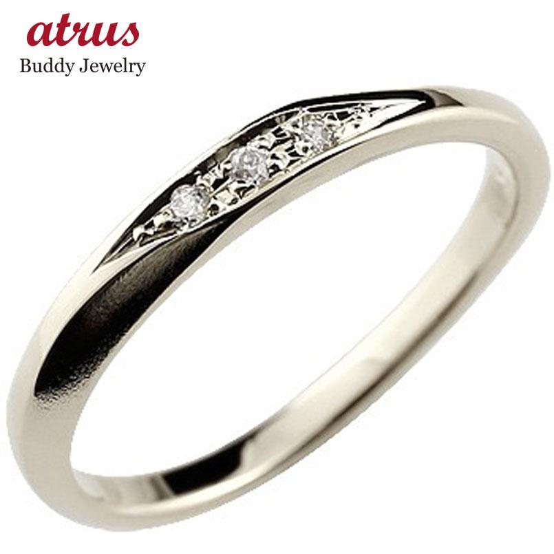 ダイヤモンド ハードプラチナ950  指輪 ピンキーリング 地金リング つや消し シンプル