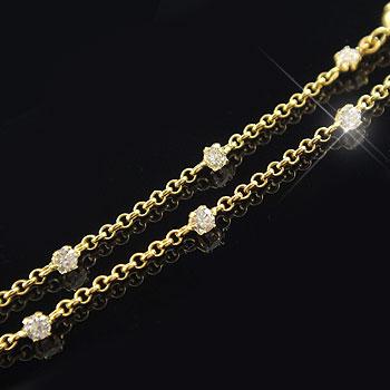 ダイヤモンド ブレスレット イエローゴールドk18