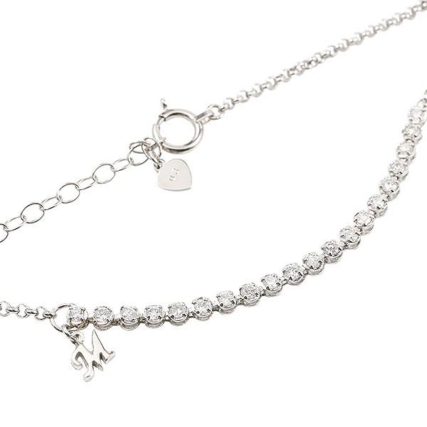 プラチナブレスレット エタニティ ダイヤモンド イニシャル ブレス pt900  レディース アジャスターチェーン付き