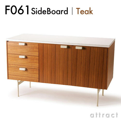 METROCS F031 SideBoard サイドボード (チーク×ホワイト)
