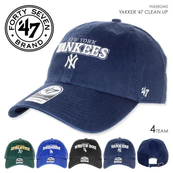 47 Brand キャップ メンズ YAKKER '47 CLEAN UP YKKERGWS 2018春 グリーン/ブルー/ブラック/ネイビー ワンサイズ