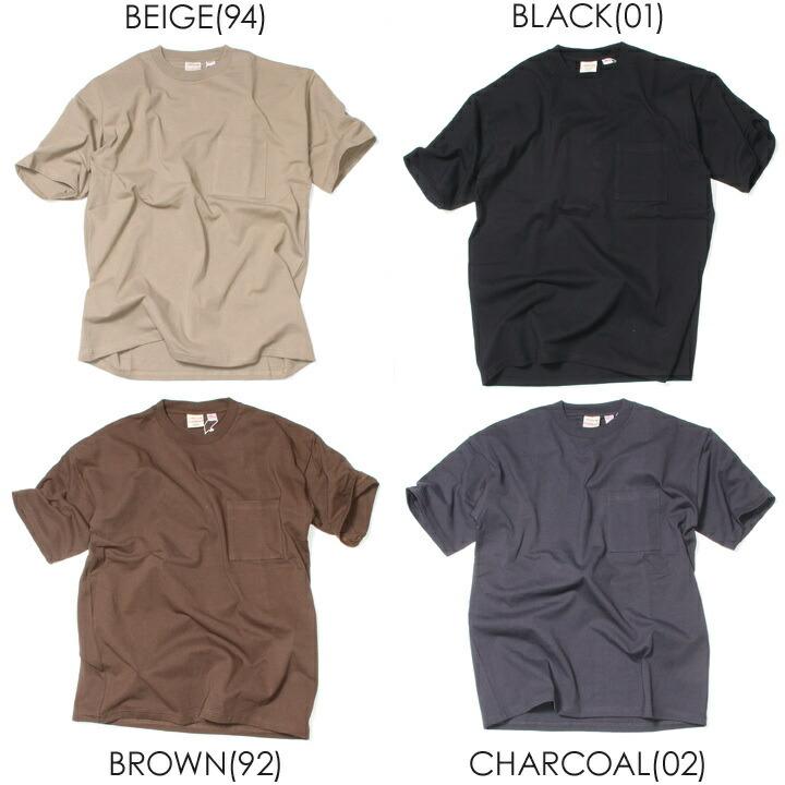 GOODWEAR Tシャツ メンズ USAコットンビッグ無地ポケットT 2W7-3505 2019春夏 ブラック/チャコール/レッド/ラベンダー/ネイビー/イエロー/カーキ/タン/ホワイト/ M/L/XL