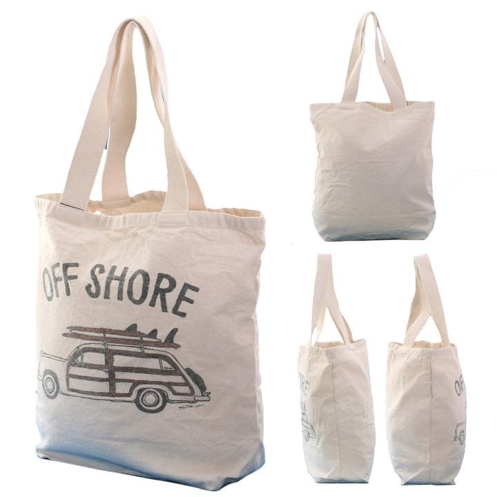 OFFSHORE トートバッグ TOTE BAG GO SURF OS18-2AC-S05 2018夏 ナチュラル ワンサイズ