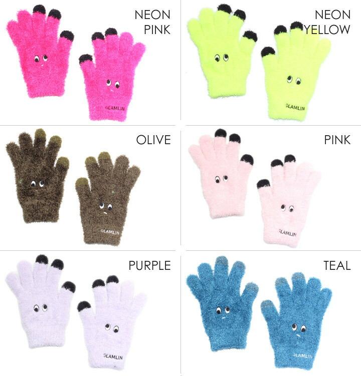 GLAMLIN グラムリン 手袋 レディース メンズ FIVE-FINGER 2018秋冬 ブラック/ブラウン/キャメル/グレー/ネイビー/オリーブ/ピンク/パープル/ブルー ワンサイズ