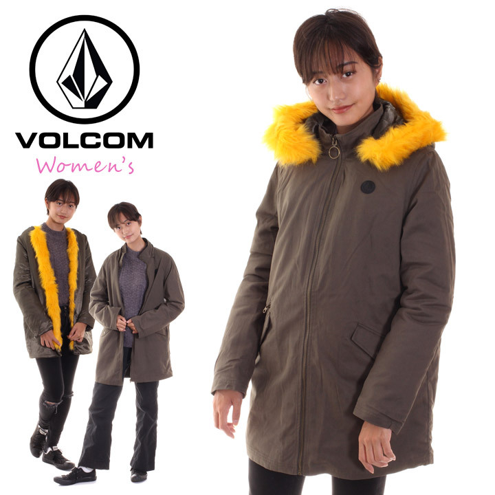 VOLCOM ボルコム モッズコート レディース POW NOW JACKET B1531805 2018秋冬 オリーブ S/M