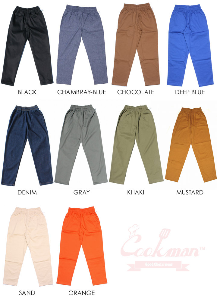 COOKMAN クックマン シェフパンツ CHEF PANTS 2019春夏 ブラック/ホワイト/ネイビー/グレー/カーキ/マルチカラー M/L