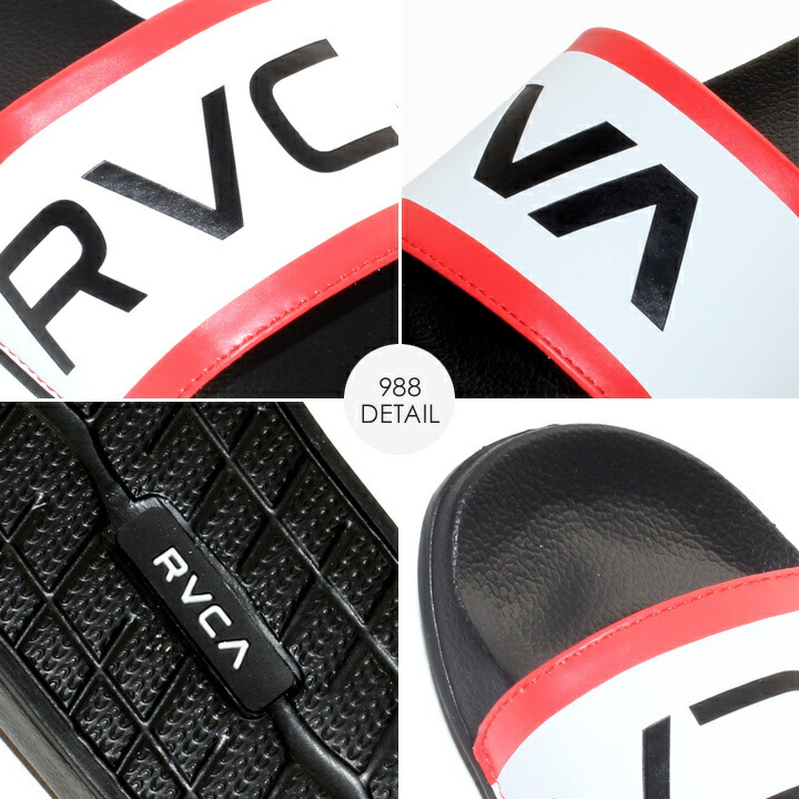 RVCA ルーカ シャワーサンダル メンズ レディース ユニセックス SHOWER SANDAL AJ041973 AJ043973 AJ041-973 AJ043-973 2019春夏 ブラック/レッド/ホワイト 23.0cm-28.0cm