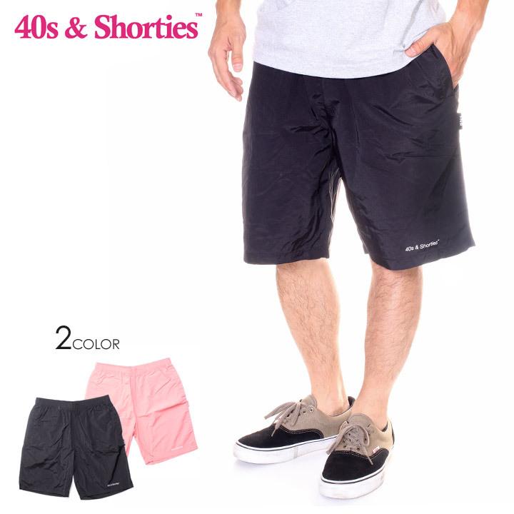 40S & SHORTIES フォーティーズ & ショーティーズ ショーツ メンズ CORE SHORTS 2019春夏 ブラック/ピンク M/L