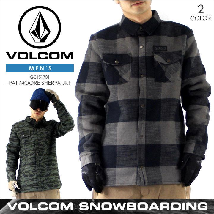 ボルコム スノーウェア メンズ VOLCOM PAT MOORE SHERPA JACKET - G0151707 【 VOLCOM SNOW スノー スキー ウエア  ジャケット スノーボード チェック 大きいサイズ 2016 2017 16 17 新作 】