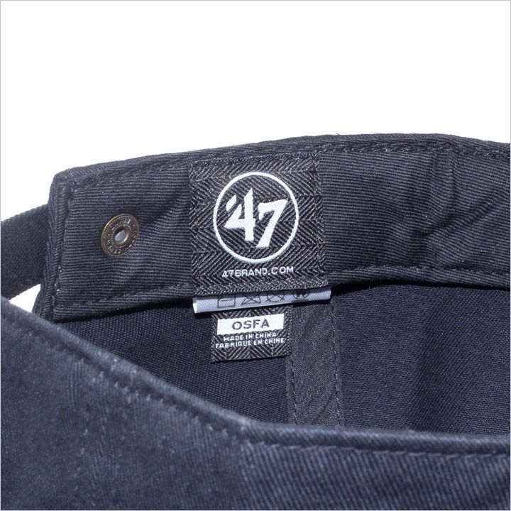 47 Brand キャップ メンズ YANKEES Peoples Movement '47 Clean Up 2017 秋冬 PEMOV17 ブラック ワンサイズ